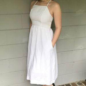 Abercrombie & Fitch White Midi Dress